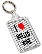 I Love Mulled Wine Keyring - Gift - Birthday - Christmas - Stocking Filler