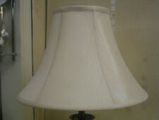 "BRAND NEW 18"" FAUX SILK AND CREAM LINED BELL LAMPSHADE"