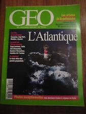 GEO N° 210 L'ATLANTIQUE ILES DU GRAND LARGE GUIDE DU LITTORAL FRANÇAIS