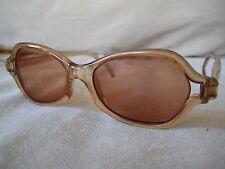 Vintage ELLE Sunglasses Amber Frames Made in Japan RX lenses shown FRAMES ONLY