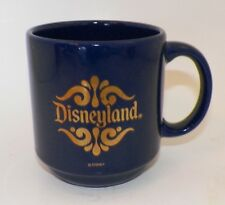 VTG Cobalt Blue Disneyland Coffee Mug Gold Made in Spain Disney