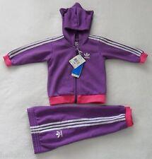 Adidas HOODIE LITTLE MONSTER  Track Suit sweat shirt Jacket-Pant firebird~Sz 12M