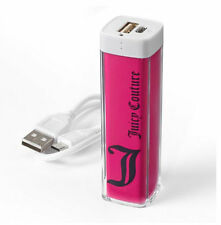 NWB Juicy Couture Power Bank External Battery USB Charger Cell Phone Iphone -