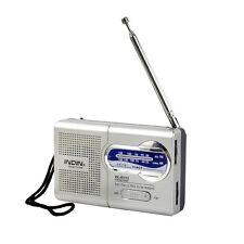 Universal Pocket AM/FM Receiver Portable Radio Antenna Built in Speaker Quality