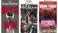 TWO TAMPA BAY BUCCANEERS SUPER BOWL NEWSPAPERS BUCS Tampa Bay Times. Tom Brady