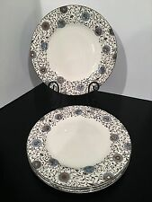 "Wedgwood Martha Stewart Conservatory Medallion Dinner Plates 11"" Set of 4"
