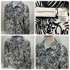 Alfred Dunner Womens Size 10 Stretch Cotton Blend Zebra Print Jacket       Gr2