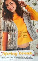 KNITTING PATTERN Ladies Cable and Lace Open Cardigan Short Sleeves Noro DK
