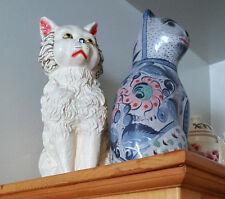 large vintage plaster carnival cat piggy bank mint condition W.T. Grant