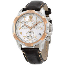 Wenger Silver Dial Brown Leather Strap Men's Watch 79131