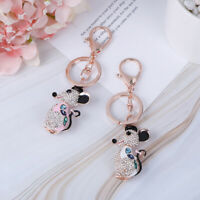 1PC 2020 Rat Key Chain Rhinestone Crystal Pendant for Handbag Purse Bag GiftDS