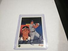DALE MURPHY 1989 UPPER DECK CHECKLIST AUTO SIGNED CARD Atlanta Braves