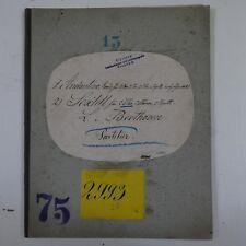 antique music manuscript BEETHOVEN andantino & sextet op.71 full score  partitur