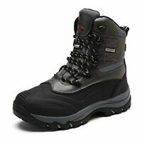 NORTIV 8 Men's Ankle Insulated Waterproof Winter Outdoor Hiking Snow Skii Boots