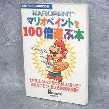 MARIO PAINT wo 100 Bai Asobu Hon Guide SFC Book JI82*