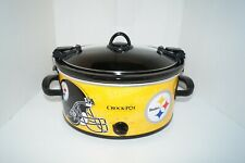 Crock-Pot Pittsburgh Steelers NFL 6-Quart Cook & Carry Slow Cooker EUC LN