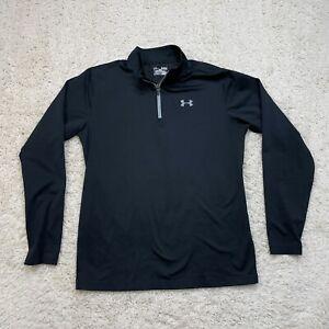 Under Armour Jacket Men XLarge Black Quarter 1/4 Zip Pullover Windbreaker