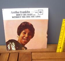 ARETHA FRANKLIN empty record sleeve Don't Cry Baby no record 1962 soul R&B