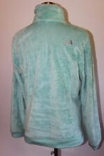 THE NORTH FACE FUZZY FLEECE JACKET OSITO WOMENS Large Mint Green Zip Pockets