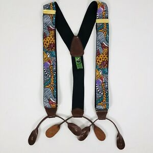 Pelican USA WWF World Wildlife Fund Suspenders Braces Zoo Animals One Size
