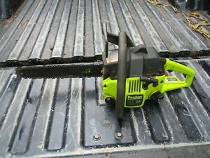 """POULAN 2050 PIONEER CHAINSAW 14"""" BAR & CHAIN PARTS OR REPAIR HAS COMPRESSION"""