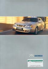 Daewoo Evanda Prospekt 4/03 car brochure Autoprospekt Auto Pkw Korea 2003 Asien