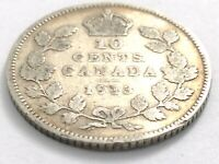 1913 Canada 10 Ten Cent Silver Dime Canadian Circulated George V Coin L548