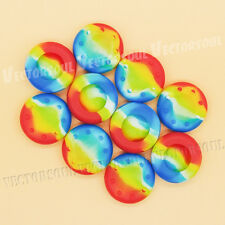 UK 10X Colourful Thumb Grip Cover Cap for PS4 PS3 XBOX ONE 360 Analog Controller
