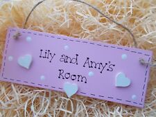 Personalsied Girls Bedroom Door Plaque Any Name Any Colour