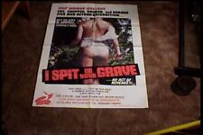 I SPIT ON YOUR GRAVE 1981 ORIG MOVIE POSTER CLASSIC HORROR