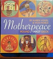 TAROT CARDS Motherpeace 78-Card Round Deck & Instruct Book by K Vogel & V Noble