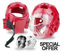 Full Face Headgear Martial Arts Head Guard Gear Sparring Protector w Face Shield