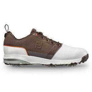 NEW Mens FootJoy FJ Contour FIT Golf Shoes 54096 White / Dark Brown Sz 9 M