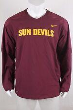 Nike Mens Dri-Fit NCAA Arizona State ASU Maroon Windbreaker LS Pullover Sz 2XL