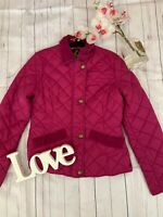 Joules Size 10 s pink quilted zip up cosy warm winter Hampton Jacket GC