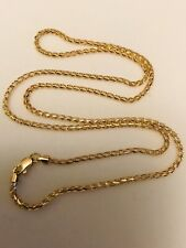 6.50 grams 18k solid yellow gold open franco chain necklace  18 inches h3jewels