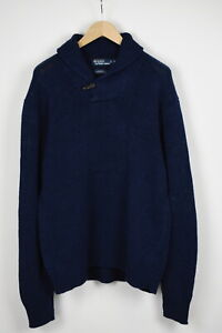 POLO BY RALPH LAUREN Men's X LARGE Linen Blend Shawl Toggle Sweater 32253_JS