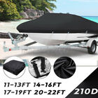 22Ft Waterproof Heavy Duty Fish Ski Bass Boat Cover UV Protection Dust Proof 210