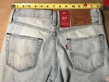 levi's mens 511 slim jeans 28x32 nwt $128 distressed with stains and paint
