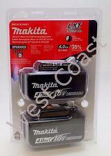 2 Makita Bl1840b-2 Lxt 18V genuino 4.0ah Baterías con / combustible calibre