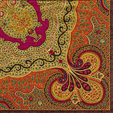 Spice Jaipur Indian floral paisley Caspari paper napkins 20 pack 33 cm sq 3 ply