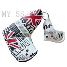 New 1pc Magnetic Golf Putter Head Cover UK Flag&Newspaper Blade Shape Design