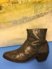 Western Style 76353 GRAY Dress Ankle Boots Size 9 D