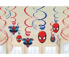 Marvel SpiderMan 12 piece Swirls Decorations Birthday Party Supplies Value Pack