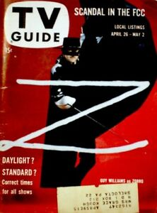 TV Guide 1958 Zorro Guy Williams Shirley Temple James Arness #265 VG COA