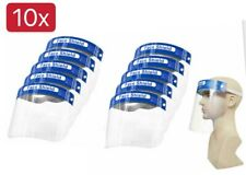 10Pack Safety Full Face Shield Reusable Protection Cover Face Eye Cashier Helmet