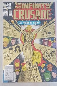 MARVEL THE INFINITY CRUSADE GOLD #1 w BAG & BOARD LET THERE BE LIGHT