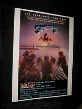 """Original SUPERMAN II WORLD TRADE CENTER Twin Towers poster 30"""" X 40"""" Rolled"""