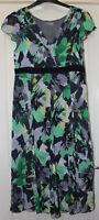Per Una Green Mix Dress Size 14 Regular