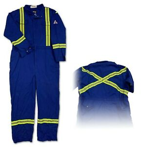 Bulwark Flame Resistant Clothes FR Coverall Reflective Safety Work Uniform CLBTR